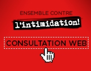 Consultation web - ensemble contre l'intimidation