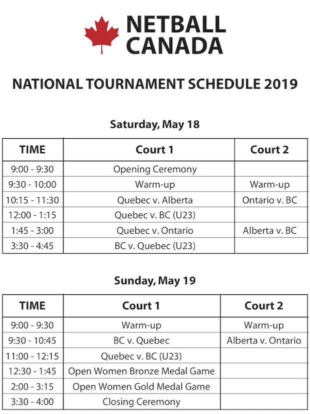 45th Netball Canada National Championship | Quebec Amateur